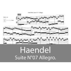 Haendel - suite N°07 l'Allegro